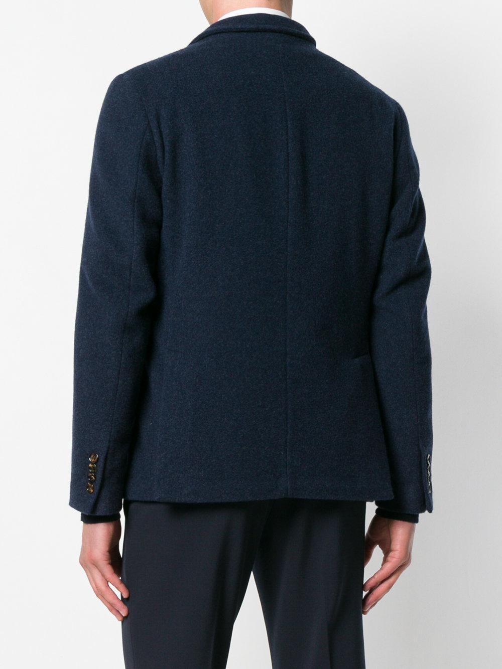Eleventy Cashmere Blazer Jacket in Blue for Men