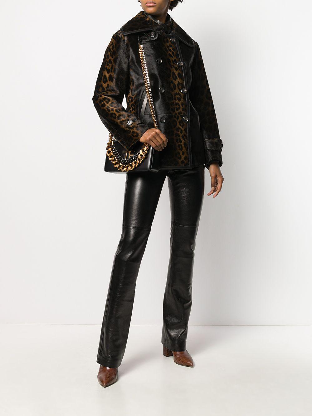 Abrigo con motivo de leopardo Tom Ford de Pelo de color Marrón