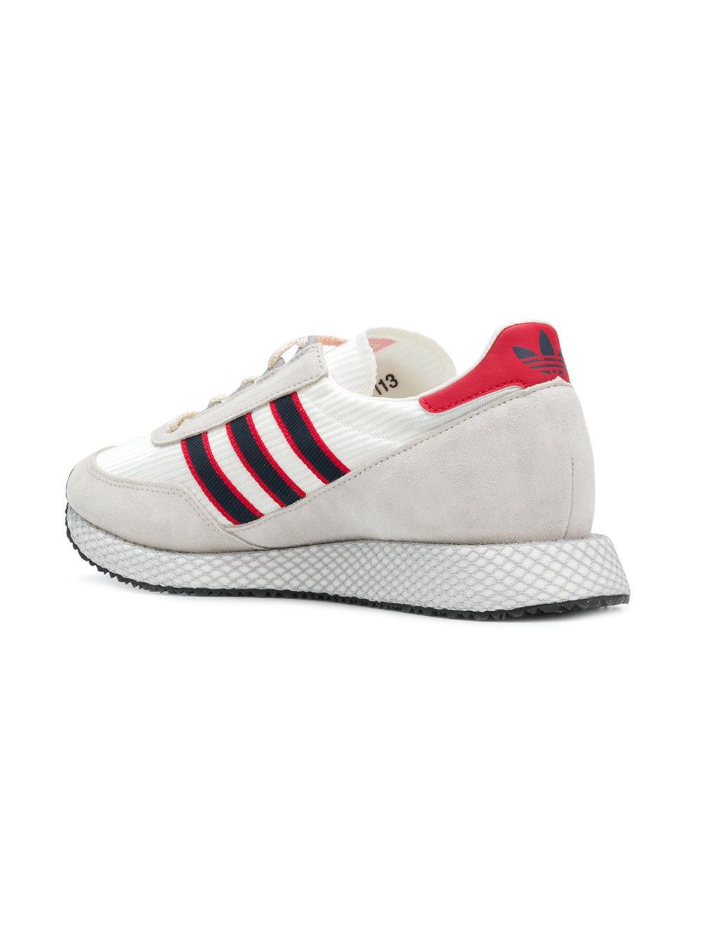 lyst adidas originali glenbuck spzl scarpe bianche per gli uomini.