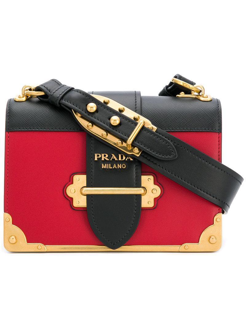 aaff714a51aa Prada Cahier Bag in Black - Lyst