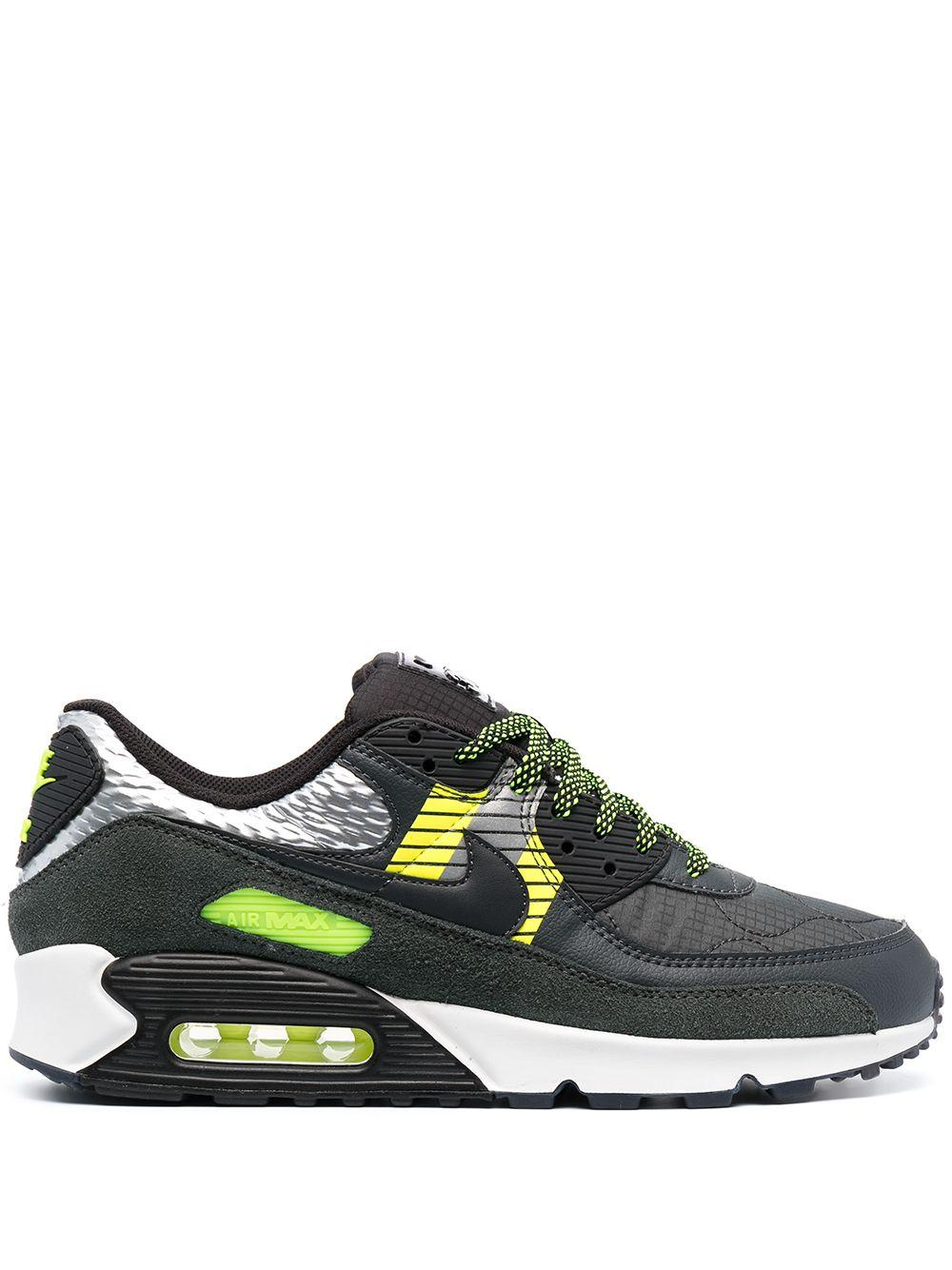 Nike Leather Air Max 90 3m Sneakers in Grey (Grey) for Men - Lyst