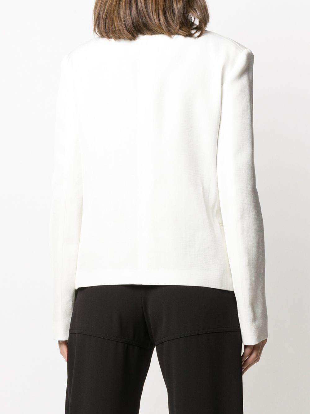 Blazer de esmoquin con botones Jil Sander de Seda de color Blanco