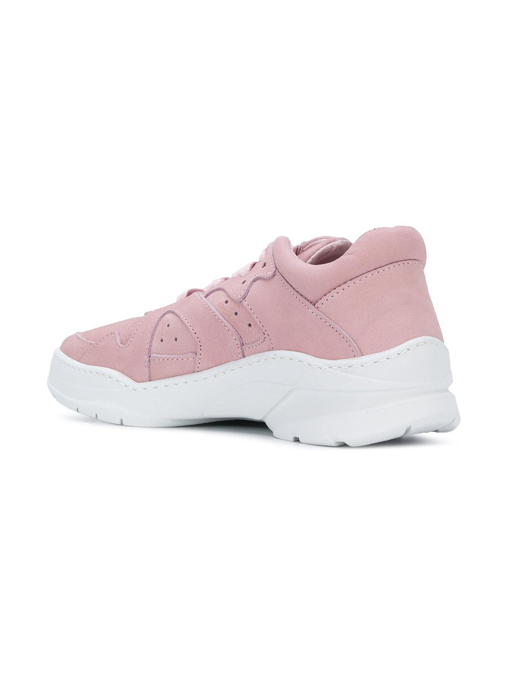 Filling Pieces Leather Denver Tracking Cosmo Sneakers in Pink & Purple (Pink)