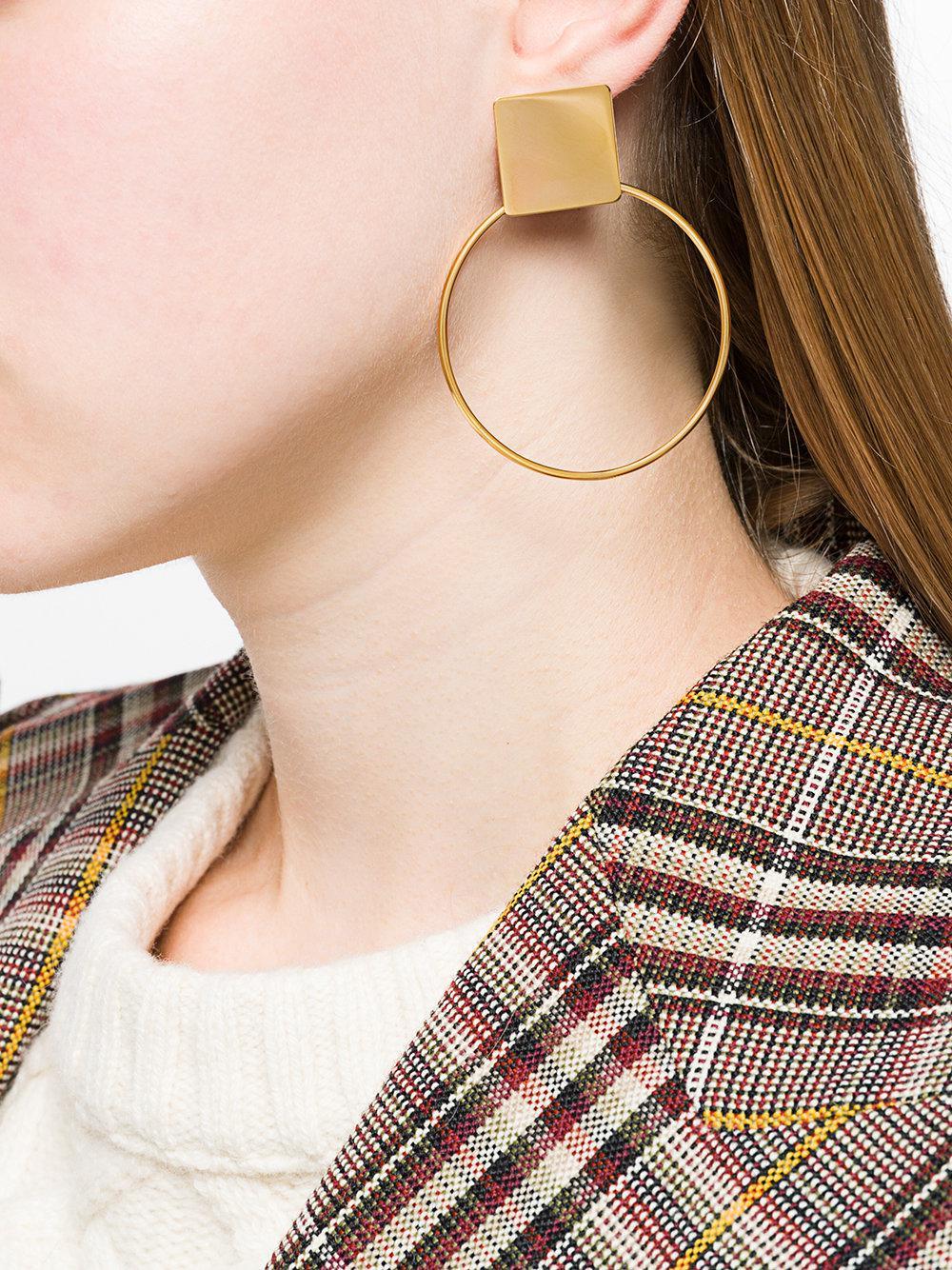 Isabel Marant Orielle Hoop Earrings in Metallic
