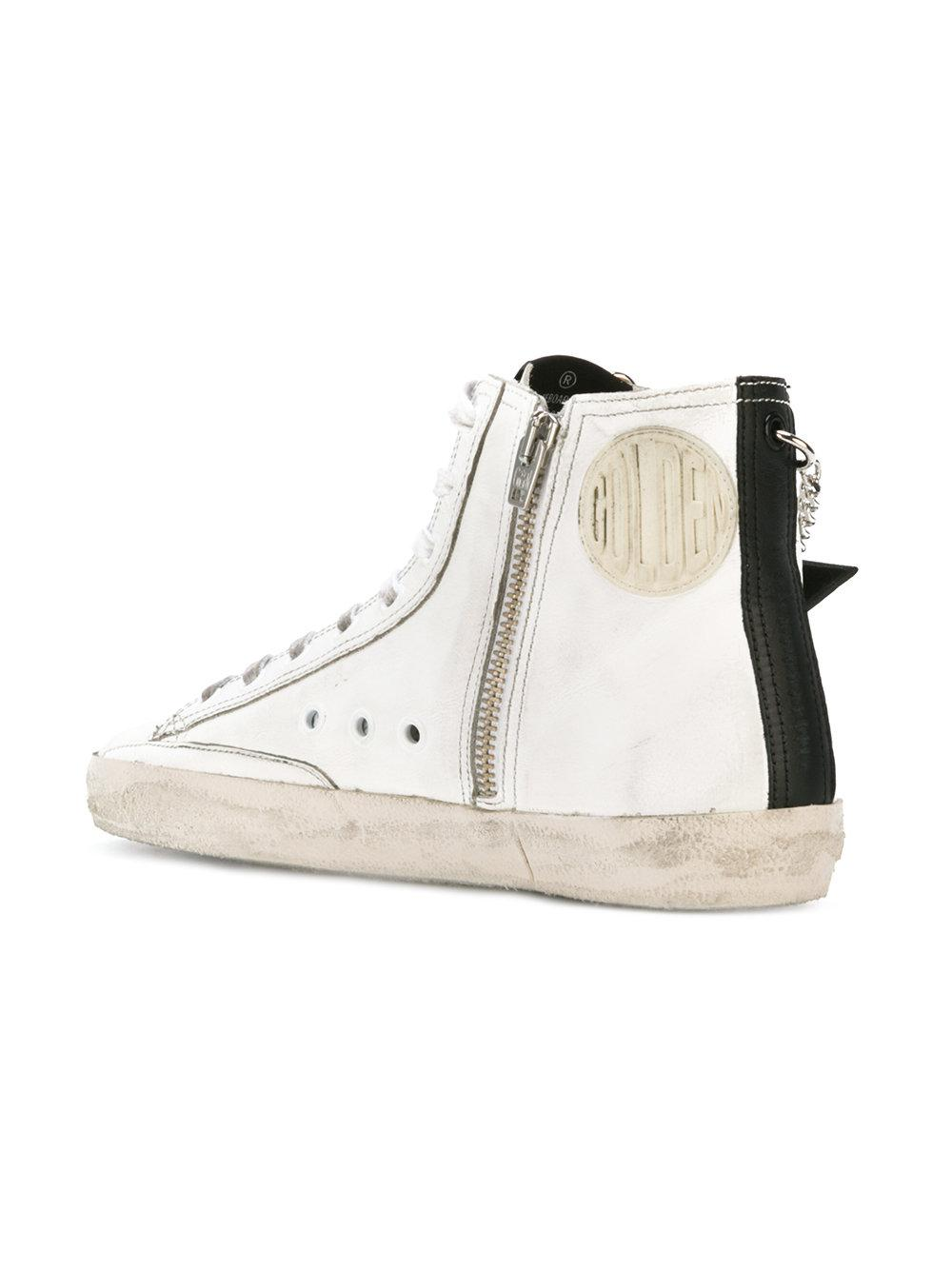 Golden Goose Deluxe Brand Leather Francy Sneakers in White