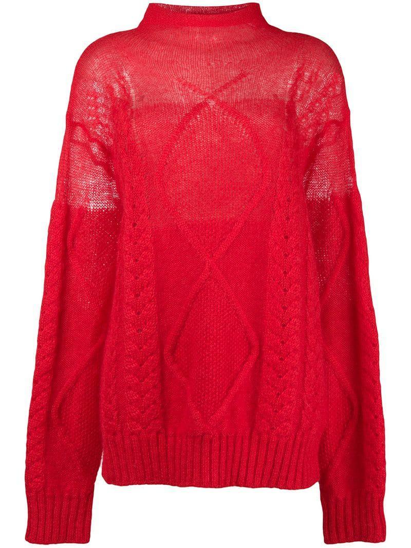 aea51c054ec36 maison-martin-margiela-Red-Sheer-Cable-Knit-Sweater.jpeg