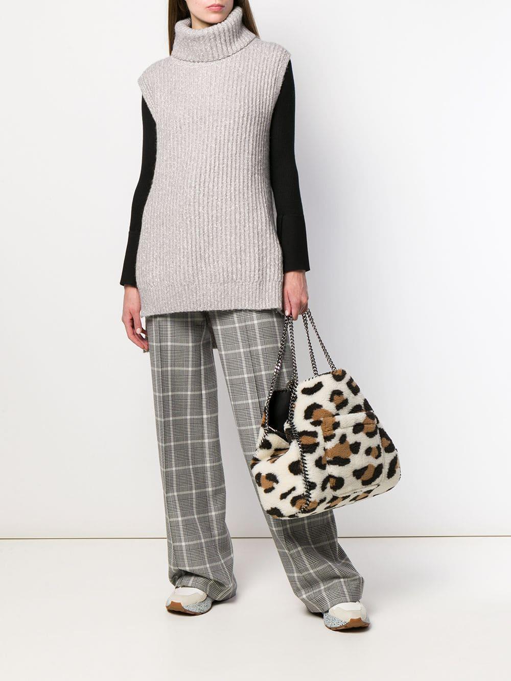 Sac à main texturé à design réversible Laines Stella McCartney en coloris Blanc lex6