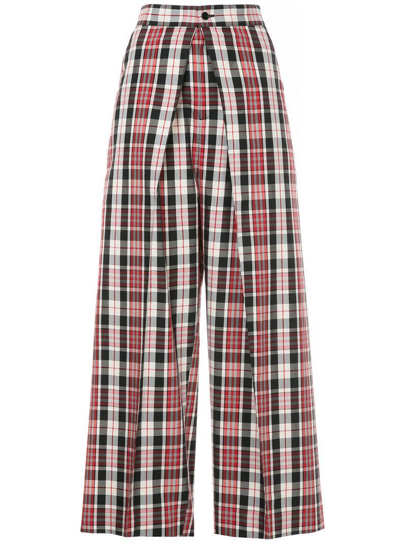 tartan wide leg trousers - Multicolour Astraet MoNYPFN