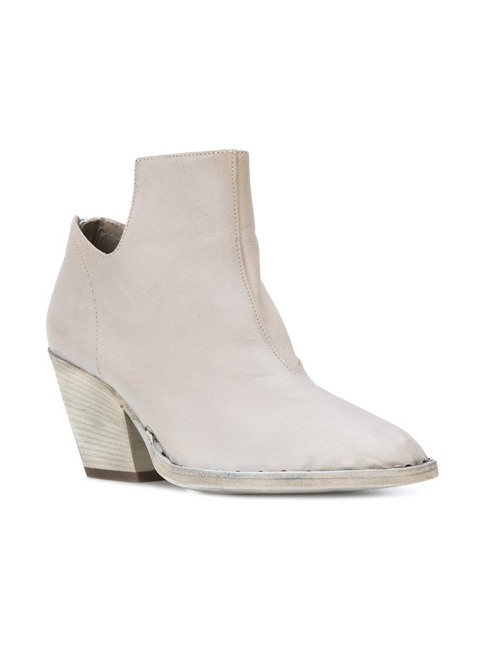 Officine Creative Leather Isabeau Boots in Grey (Grey)