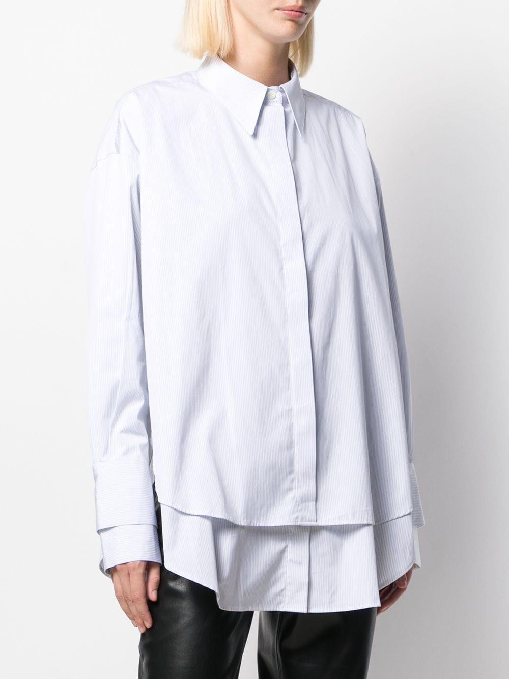 Camisa a rayas con diseño en capas ROKH de Algodón de color Blanco