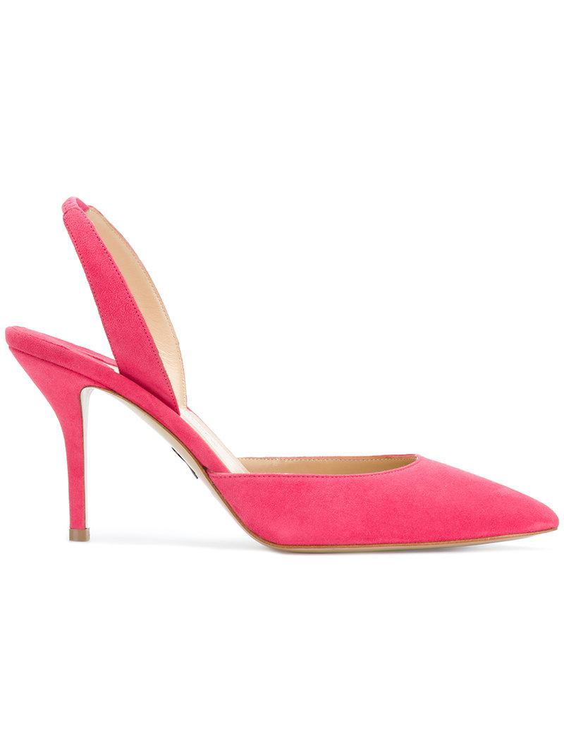 pointed sling back pumps - Pink & Purple PAUL ANDREW