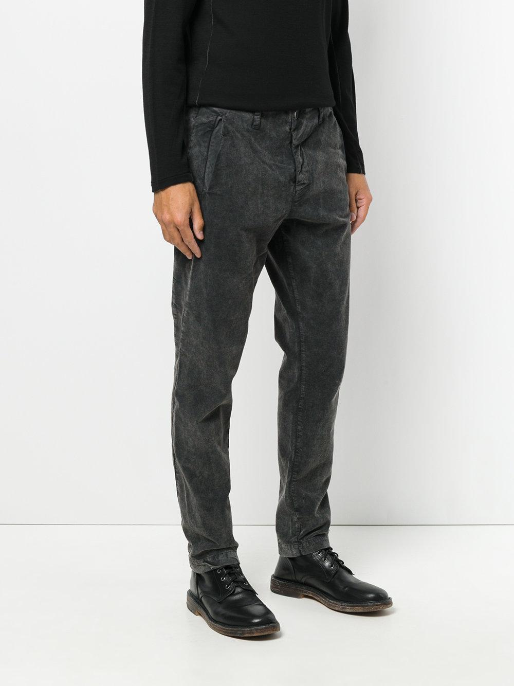 Transit Cotton Loose-fit Trousers in Grey (Grey) for Men