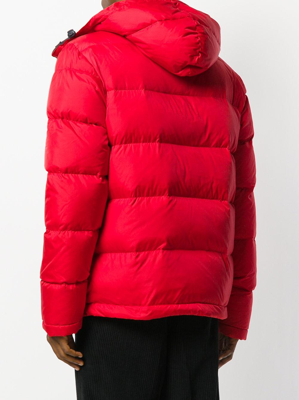 Lyst Wood Wood Hooded Puffer Coat In Red For Men