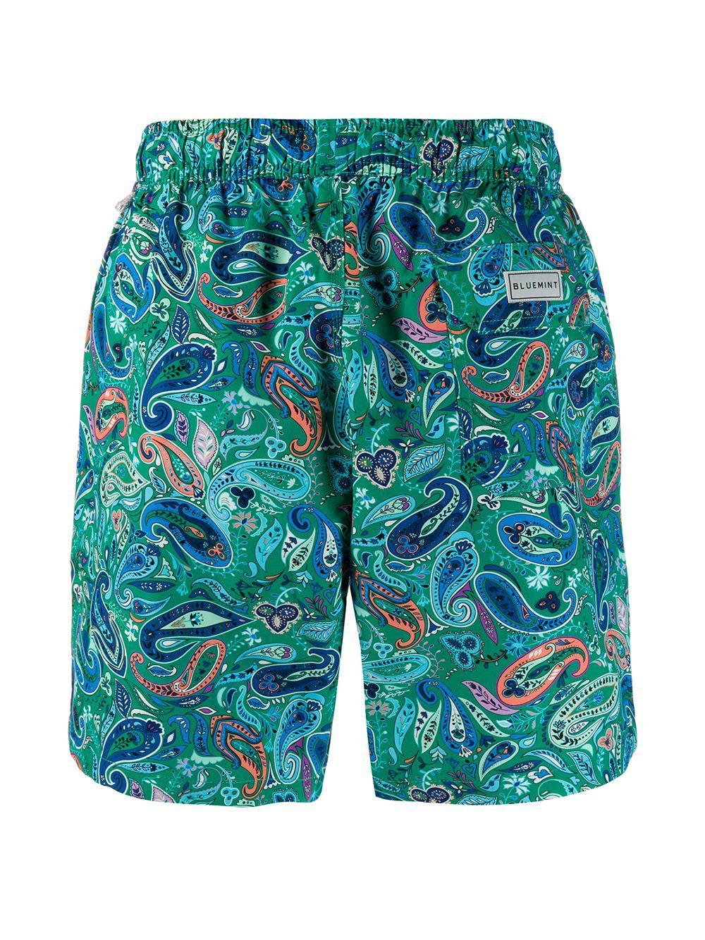 BLUEMINT Synthetisch Zwembroek Met Paisley-print in het Groen voor heren