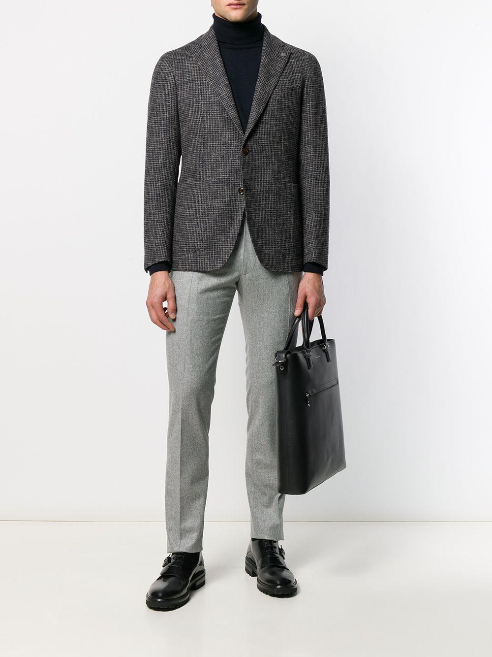 Tagliatore Wol Pantalon Met Colourblocking in het Grijs voor heren
