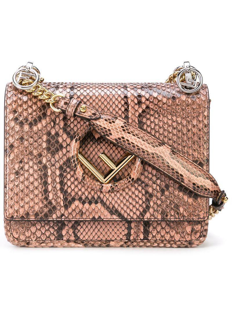 Fendi Logo Shoulder Bag in Pink - Lyst d6fcbee6803b5