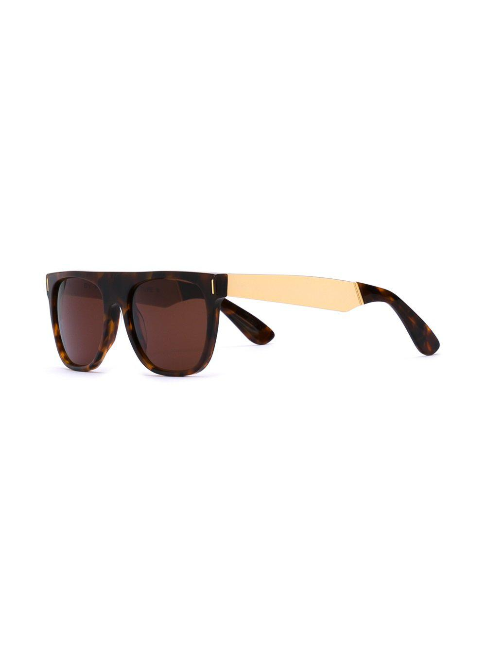 Retrosuperfuture 'flat Top Francis Havana' Sunglasses in Brown (Black)