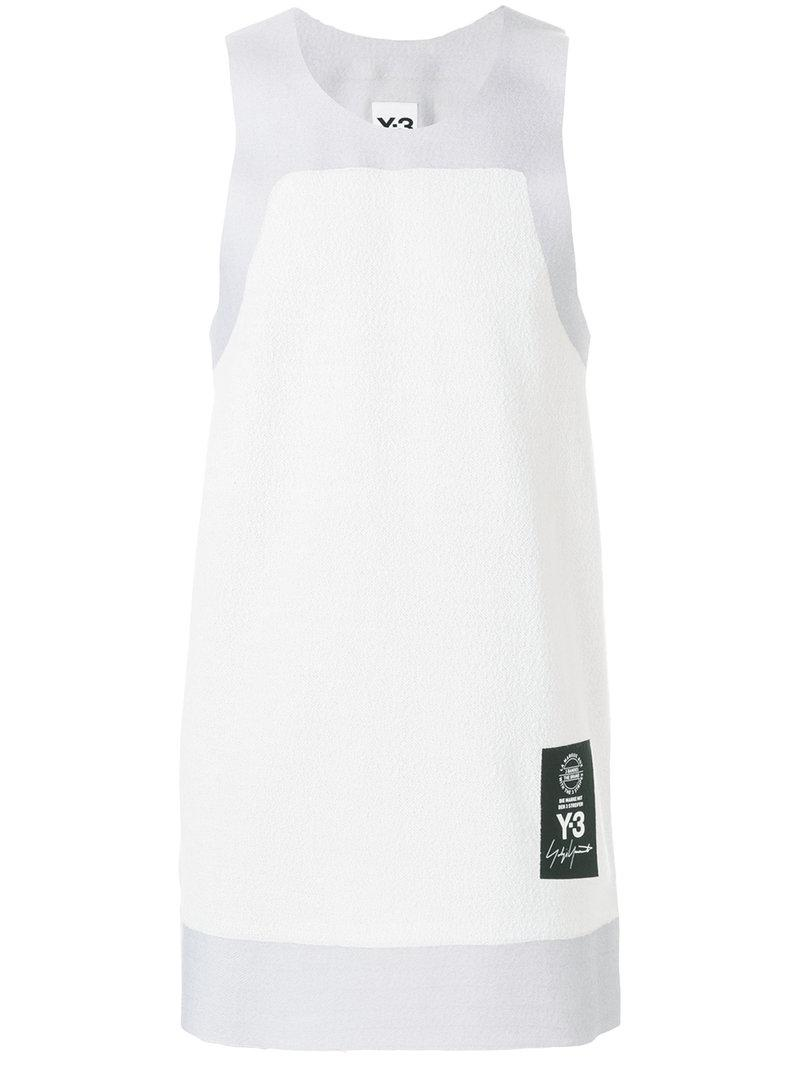 edbaca18 Lyst - Y-3 Logo Patch Tank Top in White for Men