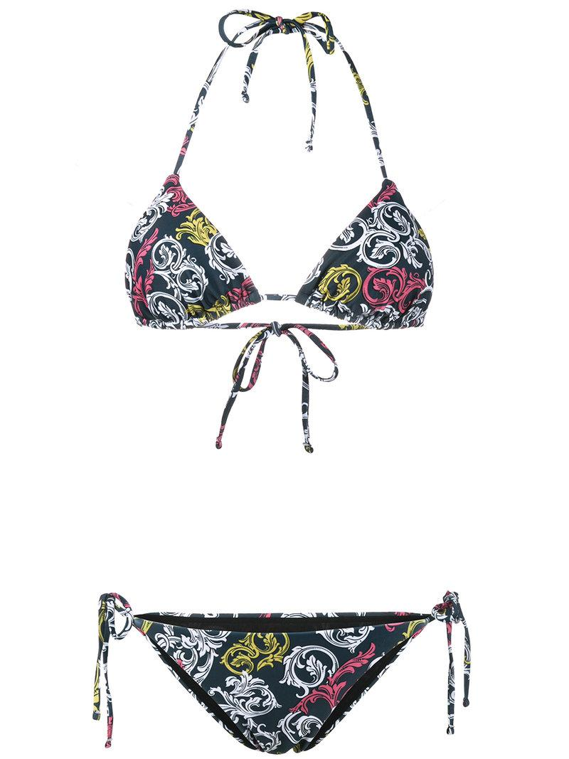 Clearance New Styles Sale Sale Online Queens Teal bikini set - Blue Mary Katrantzou For Cheap Discount XqCoz