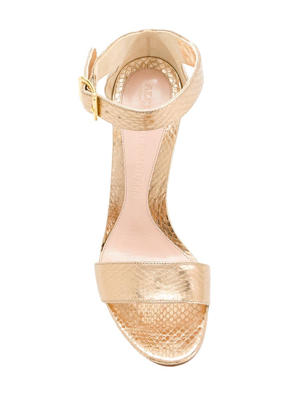 Heart sandals - Metallic Alexander McQueen 07kZa54