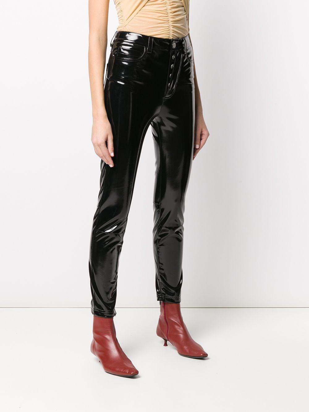 Pantalones pitillos con efecto brillante Unravel Project de Denim de color Negro