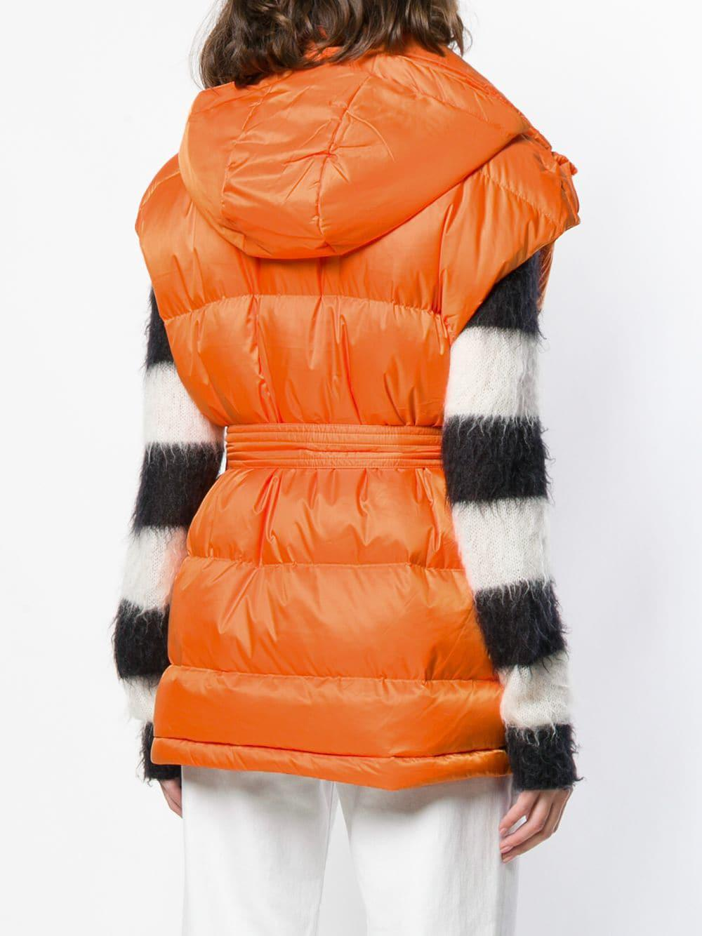 Gilet matelassé oversize Synthétique Perfect Moment en coloris Orange