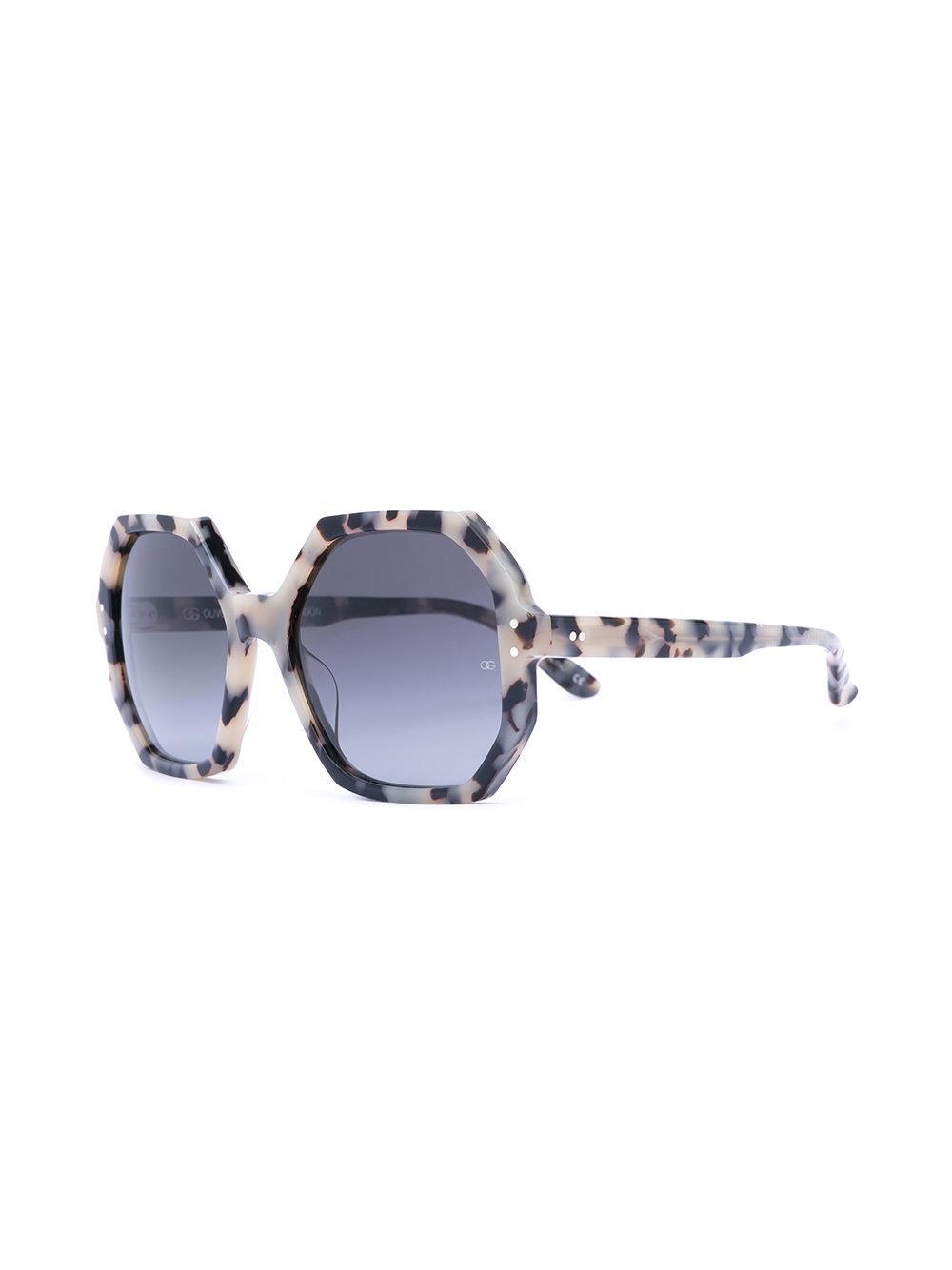 Oliver Goldsmith 'yatton' Geometric Frame Sunglasses in White
