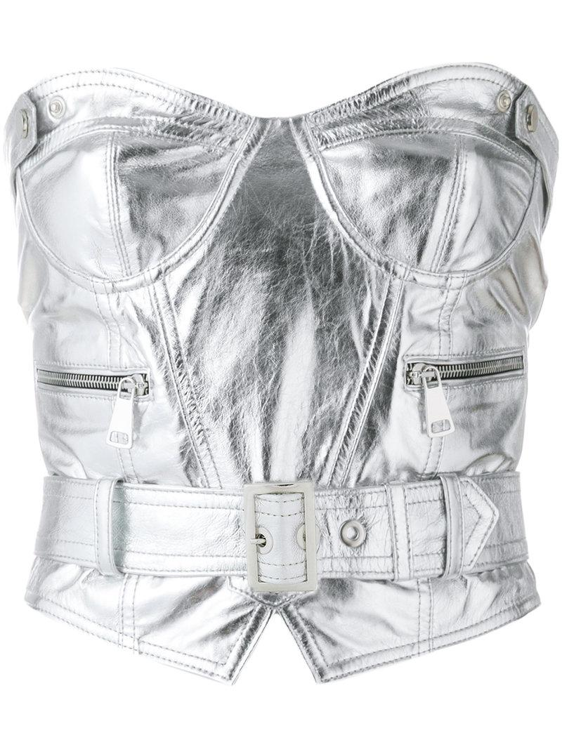 Free Shipping Cheapest Price belted bustier top - Grey Manokhi Outlet 2018 Outlet Geniue Stockist wyxtQ7YONm
