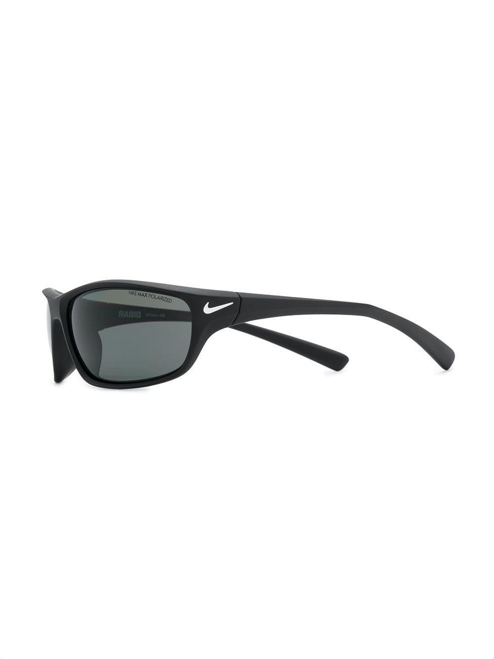 9ad4a98c45d Nike Rectangular Shaped Sunglasses in Black - Lyst