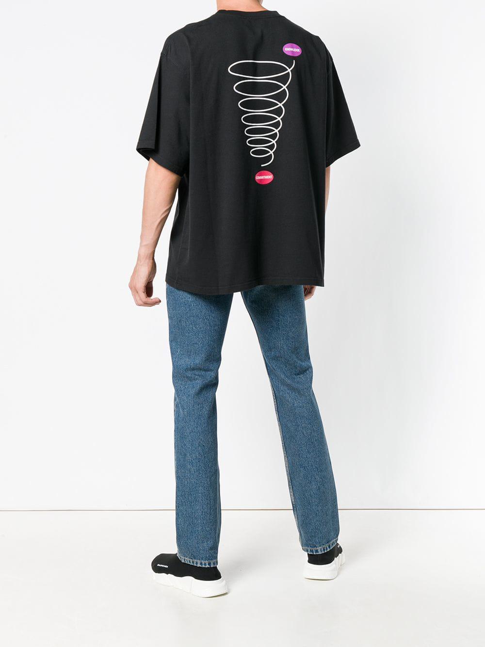 ead14a7c03a5 Lyst - Balenciaga Oversized Short Sleeve T-shirt in Black for Men