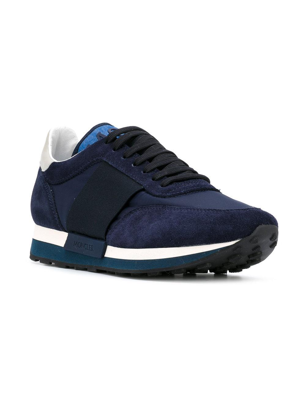Moncler Leather Horace Sneakers In Blue For Men Lyst
