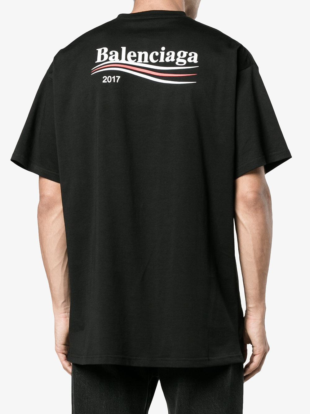 balenciaga logo shirt 2017
