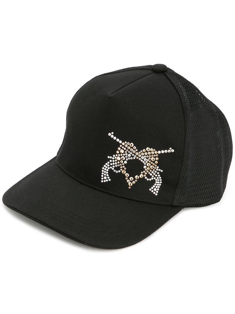 b97dbe5e4b1 Lyst - Roarguns Embellished Guns Baseball Cap in Black