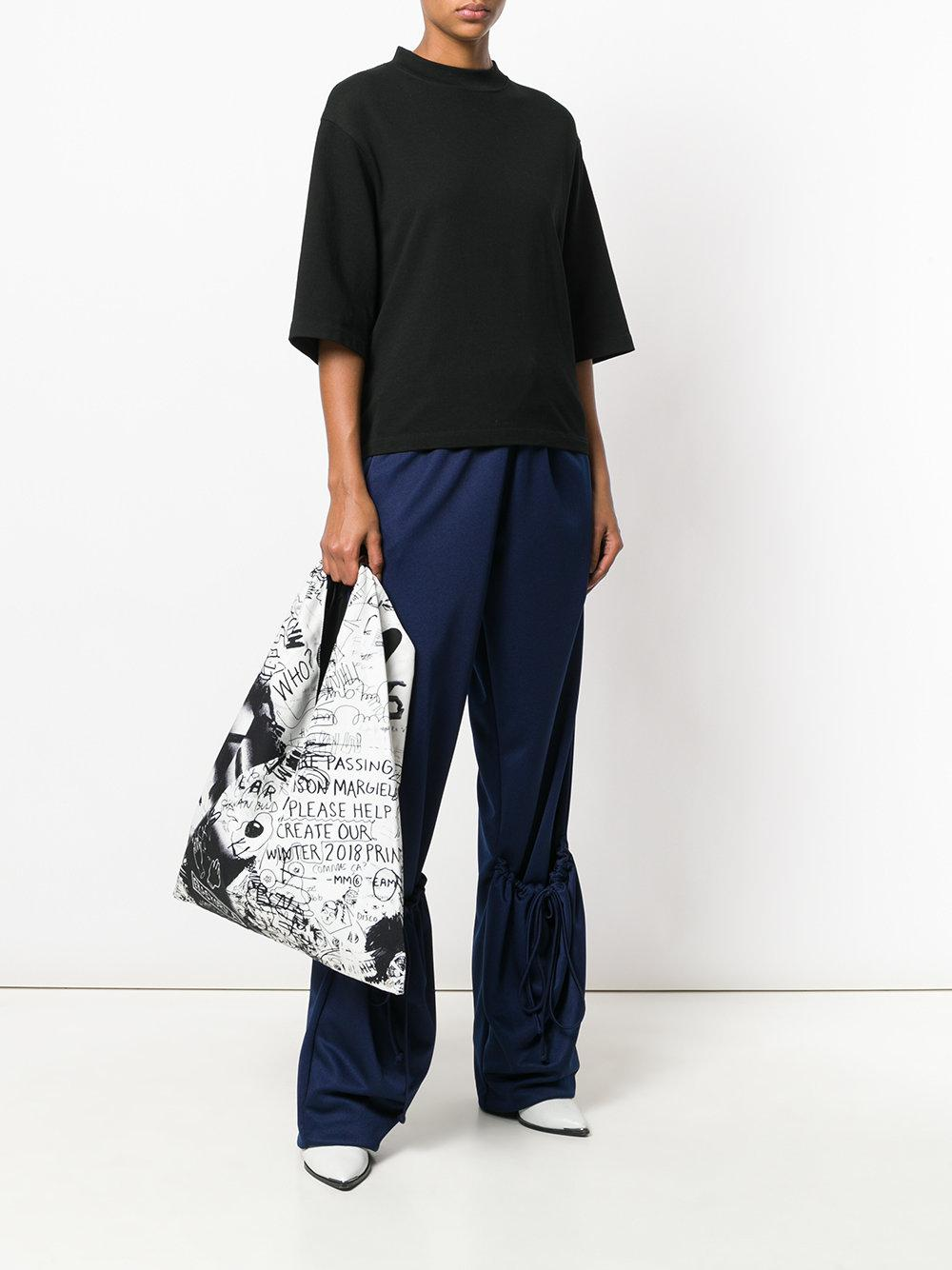MM6 by Maison Martin Margiela Synthetic Printed Tote in Black