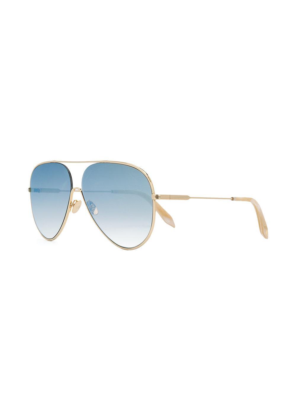 Victoria, Victoria Beckham Aviator Sunglasses in Blue