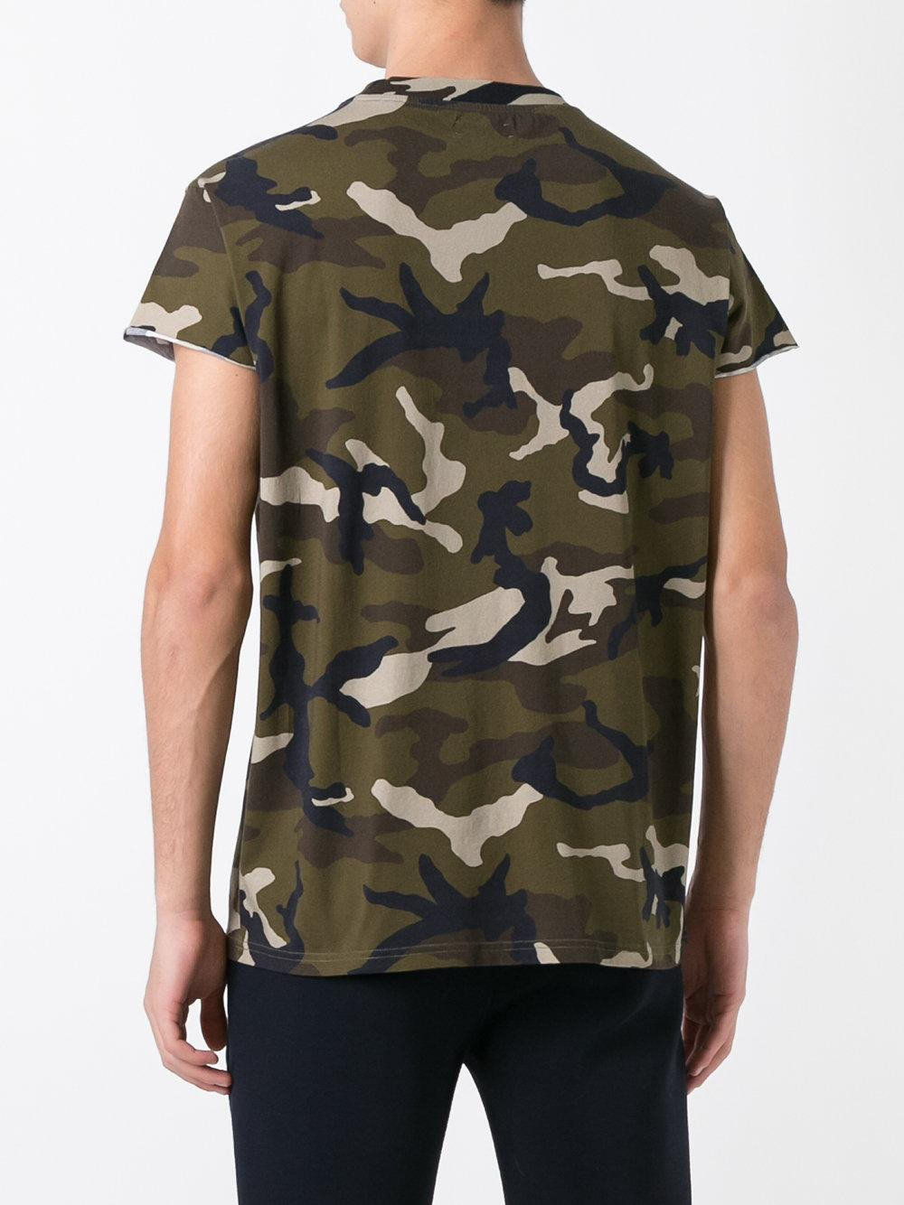 Lyst palm angels camouflage print t shirt in green for men for Camouflage t shirt printing