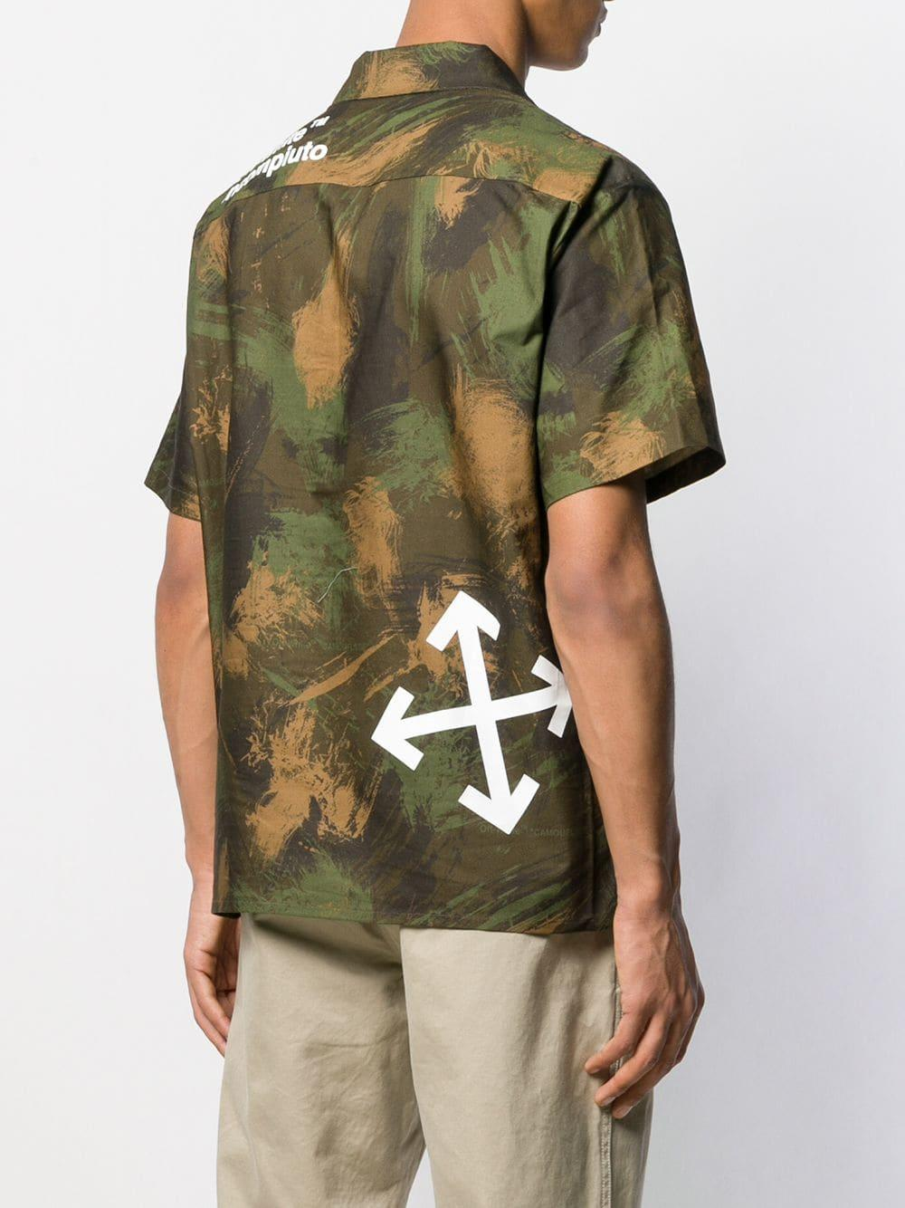 Off-White c/o Virgil Abloh Overhemd Met Camouflage Print in het Groen voor heren