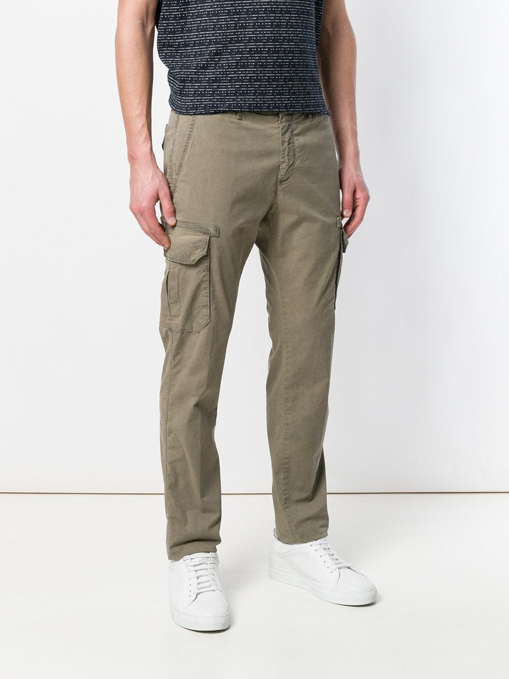 Jeckerson Cotton Slim-fit Chino Trousers in Green for Men