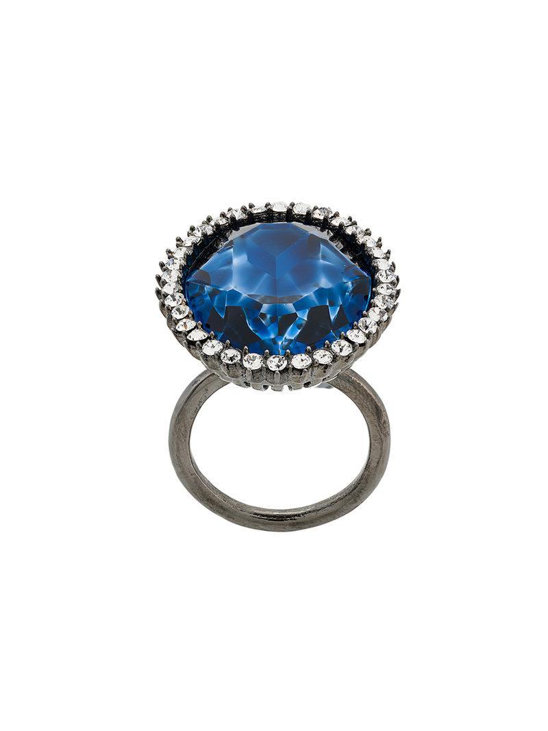 Stella McCartney cocktail stone ring - Metallic Vcqg7i