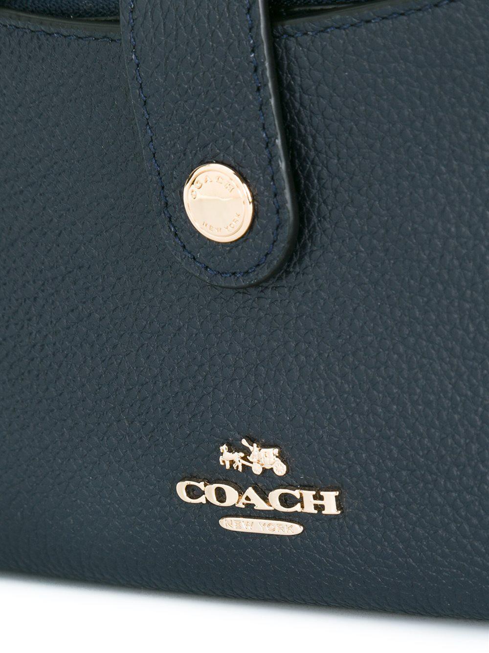 f34877e381f61 COACH Snap Fastening Crossbody Bag in Blue - Lyst