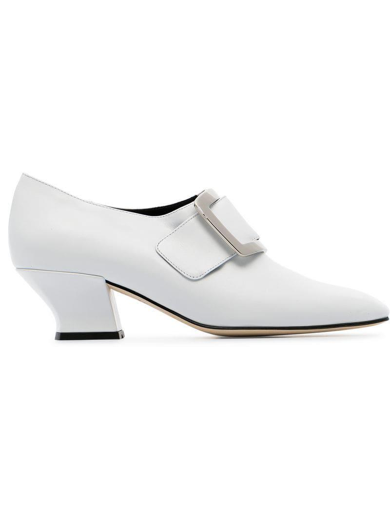 White Court Lyst Buckle Pumps 50 In Leather Han Dorateymur HqwdgHS