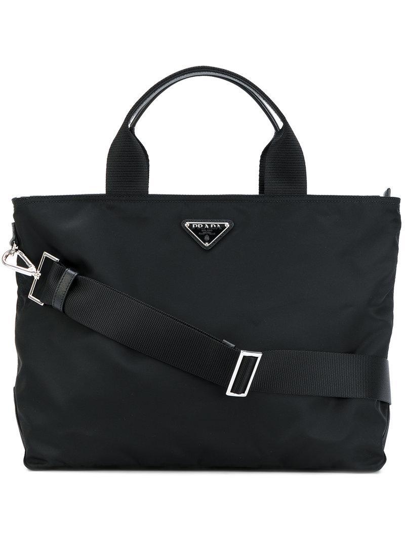 e233d07a5db2 Prada Nylon Tote Bag in Black - Lyst