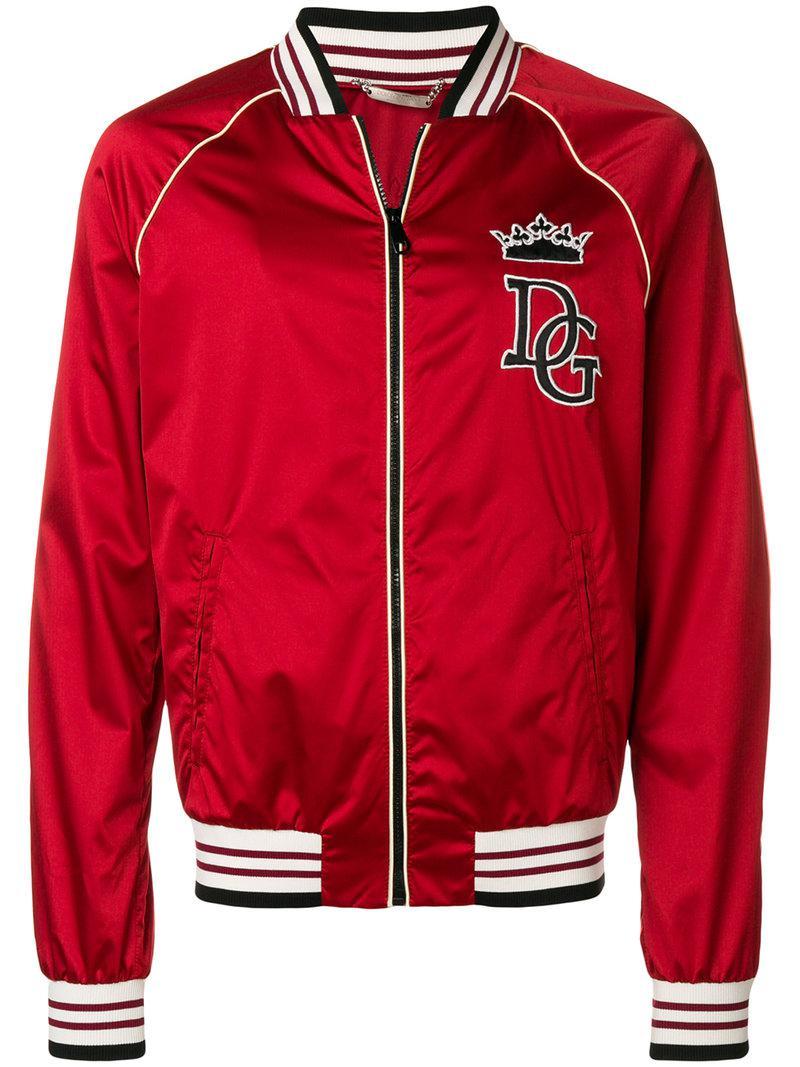 Lyst Lyst Pour Veste Dolce Bomber amp  Patch En Homme Gabbana Logo À rr8qw7 7caf1887ec53