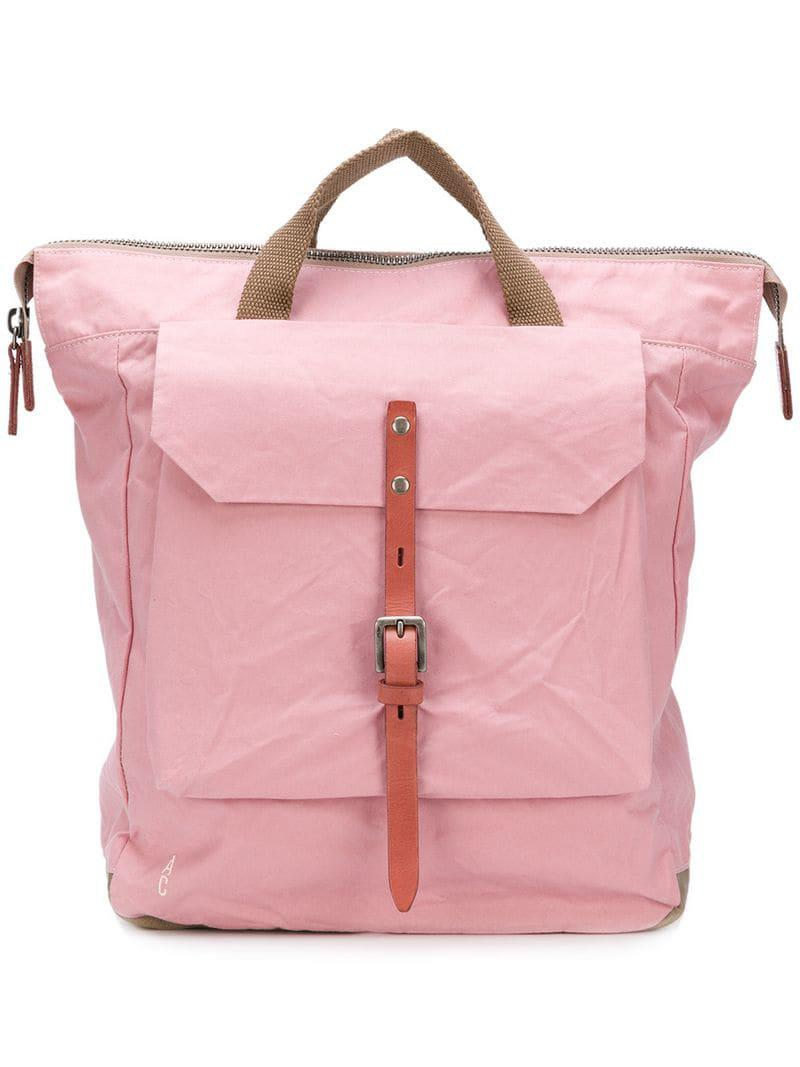1359b91889 Ally Capellino Pink Front Patch Pocket Backpack