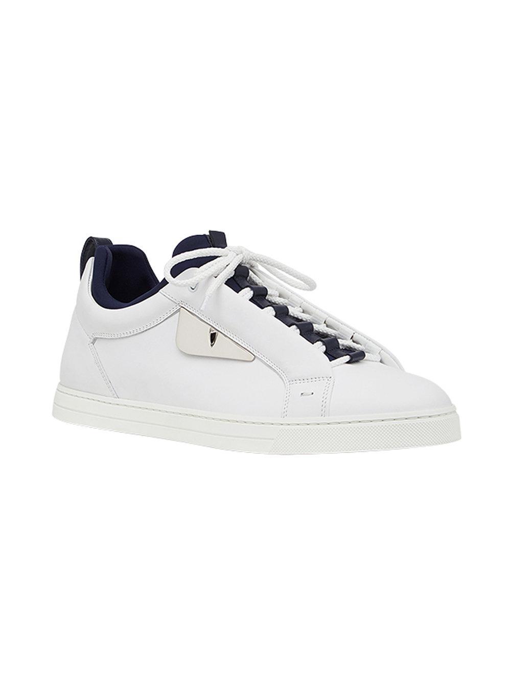 Zapatillas Bag Bugs Fendi de Cuero de color Blanco para hombre