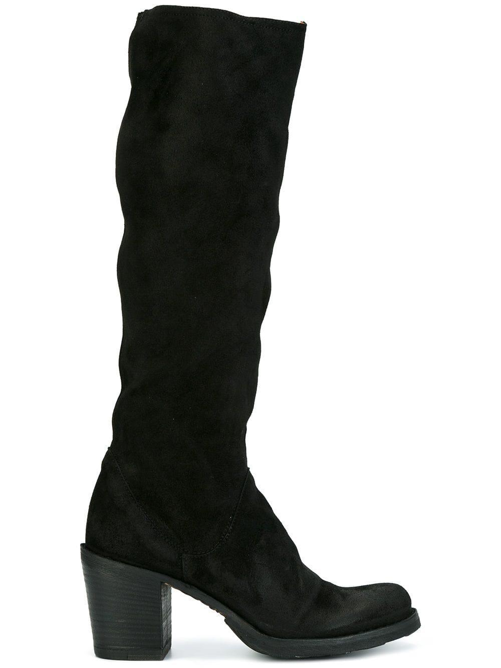 Fiorentini + Baker Leather Knee High Boots in Black