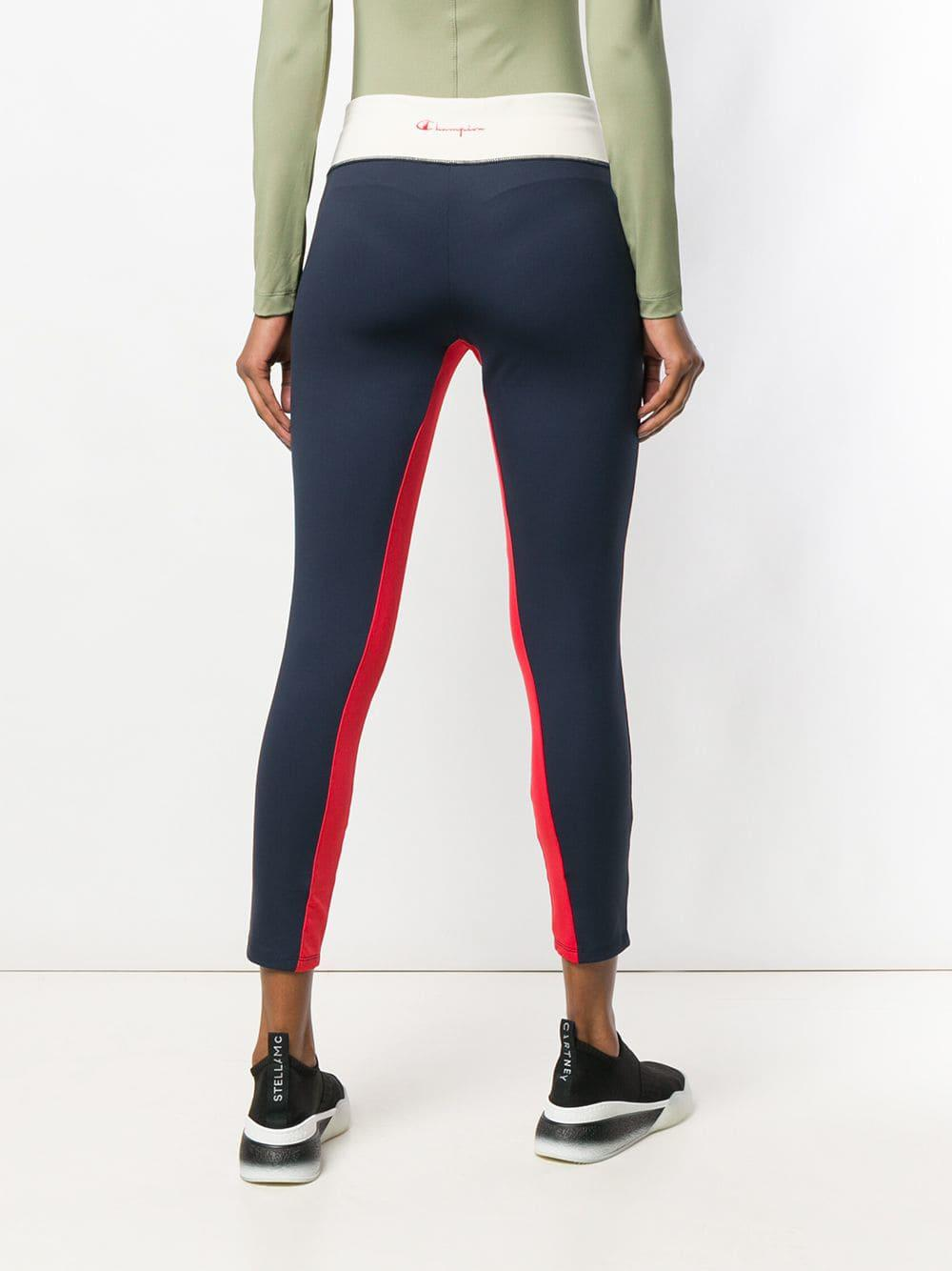 3229ad5bb40b8 Champion Cropped Sports leggings in Blue - Lyst