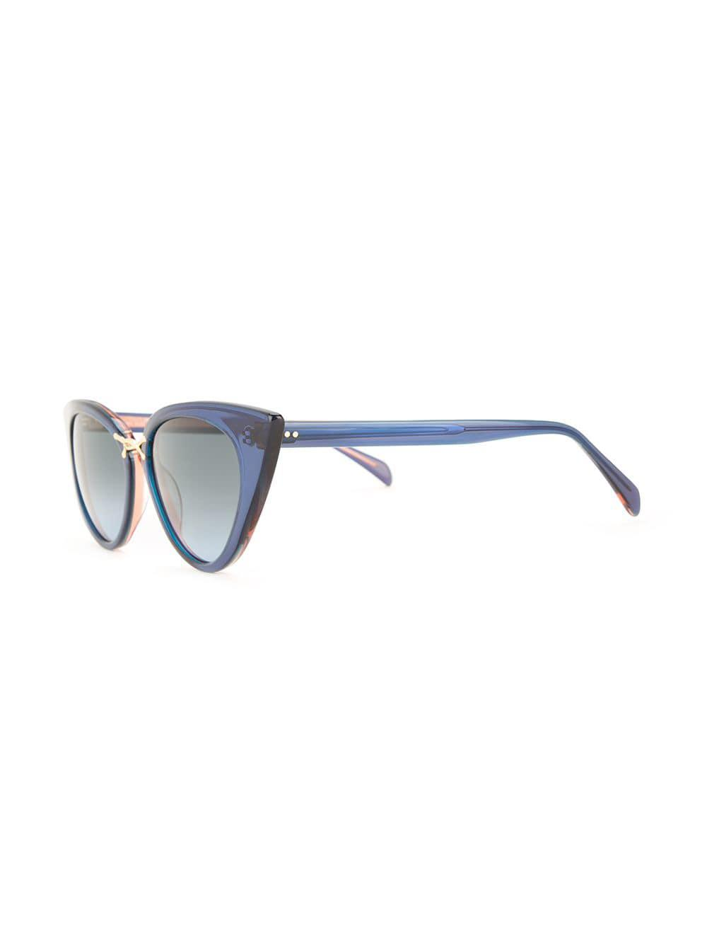 6ca1dae489 Oscar De La Renta Oversized Cat Eye Sunglasses in Blue - Lyst