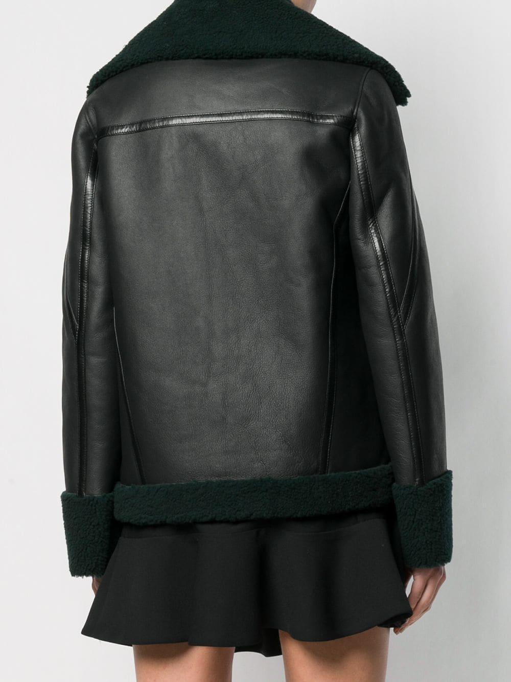 Chaqueta con cierre con cremallera Karl Lagerfeld de Cuero de color Verde