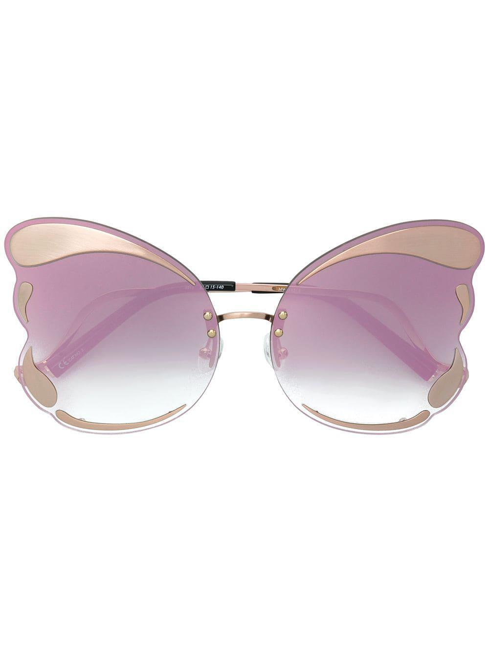 Linda Farrow Matthew Williamson X Linda Farrow Butterfly Sunglasses